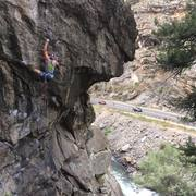 Rock Climbing Photo: the crux section