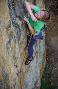 Rock Climbing Photo: carly on lead
