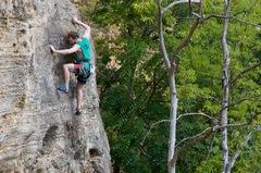 Rock Climbing Photo: up high
