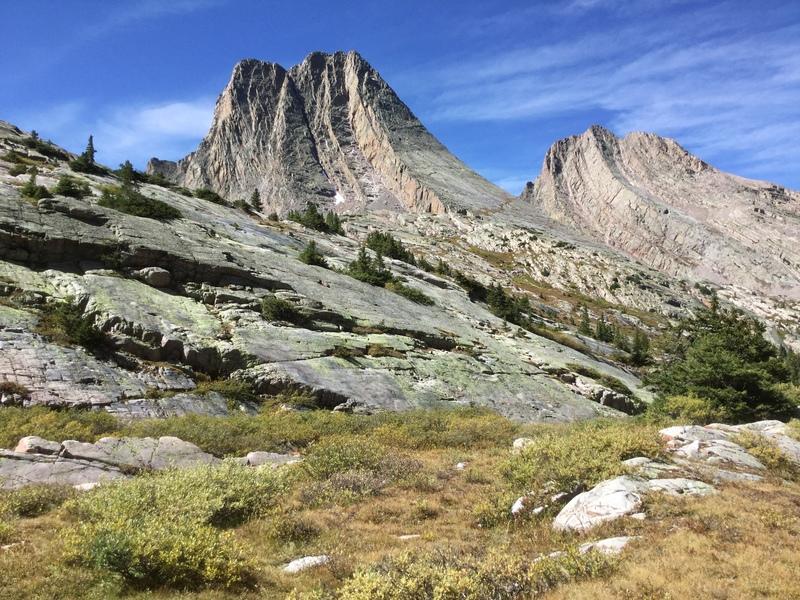 Vestal/Wham Ridge and Arrow Peak.