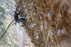 Rock Climbing Photo: Conditions can't always be perfect. Still gotta ge...