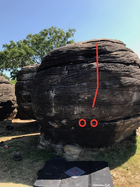 Photo #2 of the boulder problem.