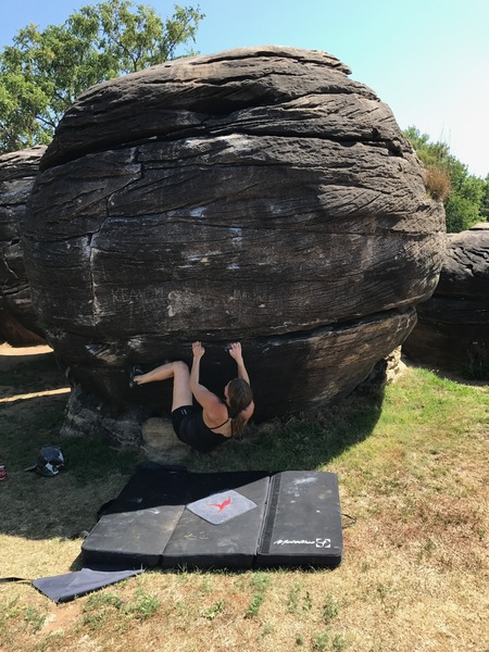Photo #3 of the boulder problem.