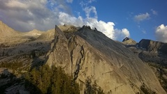 Rock Climbing Photo: Wallace Stegner Spire and the Great Western Divide...