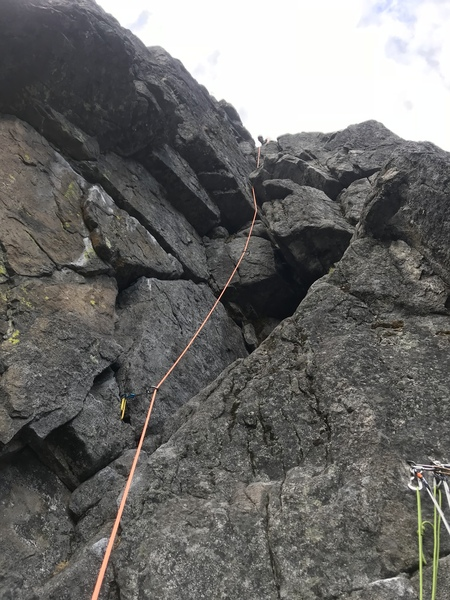 Dan leading on the lower half of pitch 2