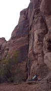Rock Climbing Photo: Follow the steep corner. Go left at the split.