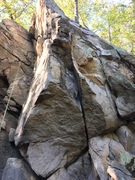 The Blade Area. Rope in background is on Gunboat (5.4). Arete in foreground is 5.10.