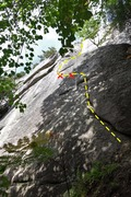 Rock Climbing Photo: Pitch 1 of First Impressions - a little blown out ...
