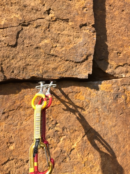 At the transition into the main crack.