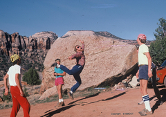 Rock Climbing Photo: Epic Hackey Sac at Indian Creek...From left to rig...