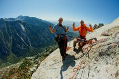 Rock Climbing Photo: Andrew Burr & Peter Vintoniv, Direct South Face, P...