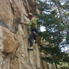 """Hermann Gollner """"the Legend, comes over to the Dumont, Mill Creek Crag, to climb with us."""