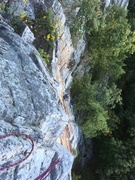 Rock Climbing Photo: Paul contemplating the crux