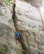Rock Climbing Photo: Tough start.
