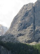 Rock Climbing Photo: The route follows a line just in from the left edg...
