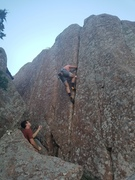 Rock Climbing Photo: Introducing some friends to crack climbing on Red ...
