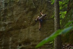 The reckoning has some of the most unique moves at the falls. Flowy climbing with no distinct crux is why it's one of the best at Jackson.