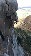 Rock Climbing Photo: Trying hard on Que Vuelo, 12c