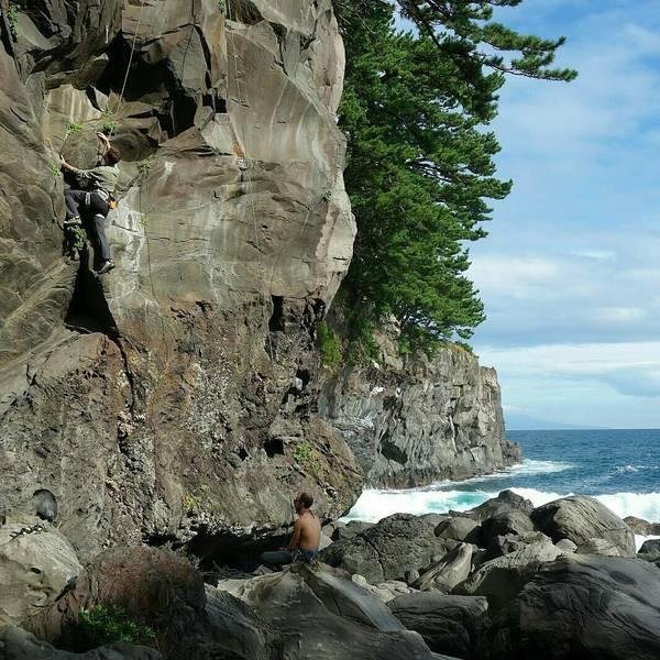 Beautiful seaside crag