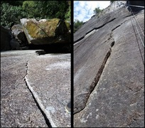 Rock Climbing Photo: Left: P2 variation to the Dark Crystal. Right: P4...