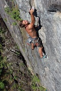 Rock Climbing Photo: Michal on p6. Photo Ryan Hoover