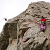 Climber on the route