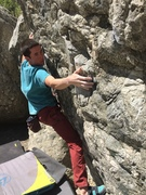"Rock Climbing Photo: Zack Smith, on ""Serendipity"" v5, a bulle..."