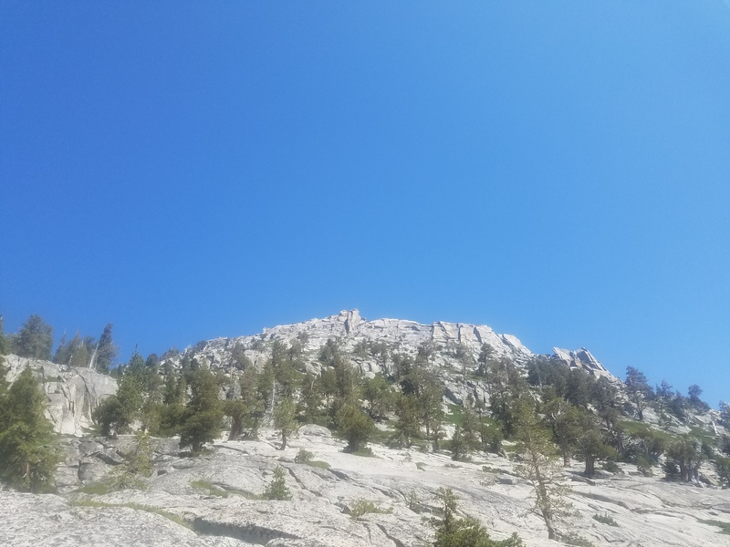 Looking at the ridge from below