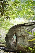 "Rock Climbing Photo: Chris Grasinger standing tall on ""Salute&quot..."