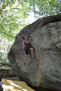 "Rock Climbing Photo: Jon working through ""Salute"" on the Road..."