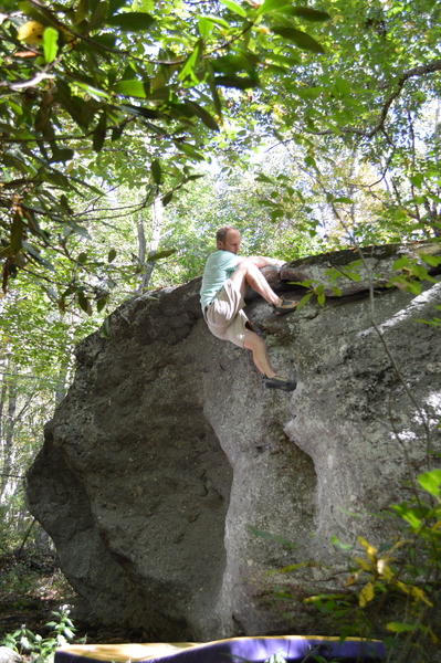 Chris topping out the seam