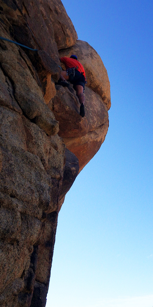 Nice jugs leading up to a fun overhanging hands finish. Photo by Hannah. Sep 2017.