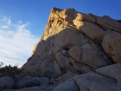 Rock Climbing Photo: Odysseus' Shuffle right of and above much of Penel...