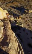Rock Climbing Photo: Hannah balancing across the dwindling walkway.  Se...
