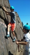 This is a great place to coach climbing and traversing skills.
