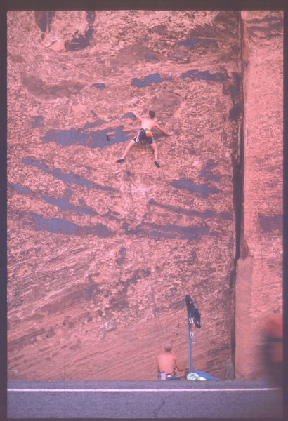 Rock Climbing Photo: Had a high first bolt in 1990