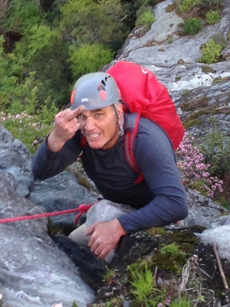 My guide, Christian Helger from FOX said last pitch was easiest.....he lied so he got this as I reached summit. But great day! 4 hours six pitches best climb to date.