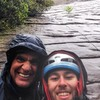 Christian and I after sticking (literally) to side of Looking Glass during monsoon..literally had to lay flat and grab anything else get blown off. Everyone else had long bailed...we hung. MY MAN! Doug Lutz from FOX, I'm looking for the pics that old man took of us but I think all he got was his shoes! We'll get some in a few weeks.