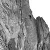 Sunset Slab.  Climber Jeremy Sell.  Craig Karls belaying.