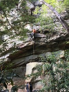 Rock Climbing Photo: The start for both tabasco lines
