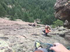 Mom's first ever climb! -featuring Bec, Tay and my poor rope management skills.