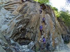 Rock Climbing Photo: Layered photo timelapse.