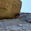 Having fun on the crux!