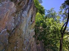 Rock Climbing Photo: Tony loves spaghetti.