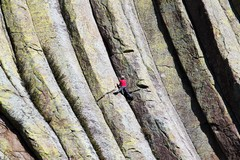 Rock Climbing Photo: This is a good view of the traverse on the first p...