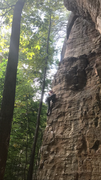After a fiddly start, clip stick recommended for this super fun route.