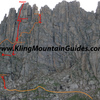All anchor material was updated/ replaced during Summer of 2017. You can rappel off the summit bolts, and all subsequent rappels as pictured with a single 70m rope. A preferred method is a 35-40m 8.9 mm rope for the way up.  Then on the way down, utilize a tag line like the Sterling V-TX 5.4mm cord.  This is a super light weight combination.   <br> <br> Kling Mountain Guides, based in Durango, is permitted to guide Jagged.<br> <br> http://www.klingmountainguides.com/jagged-peak-climb/