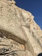 Rock Climbing Photo: Rope on route shows anchor location on Piglet Tip ...