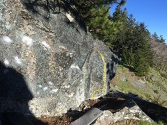 Good profile of the boulder