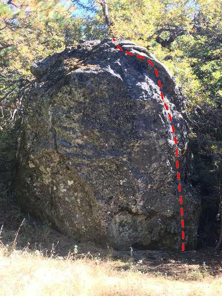 The Hook Route, Old Oak Boulder
